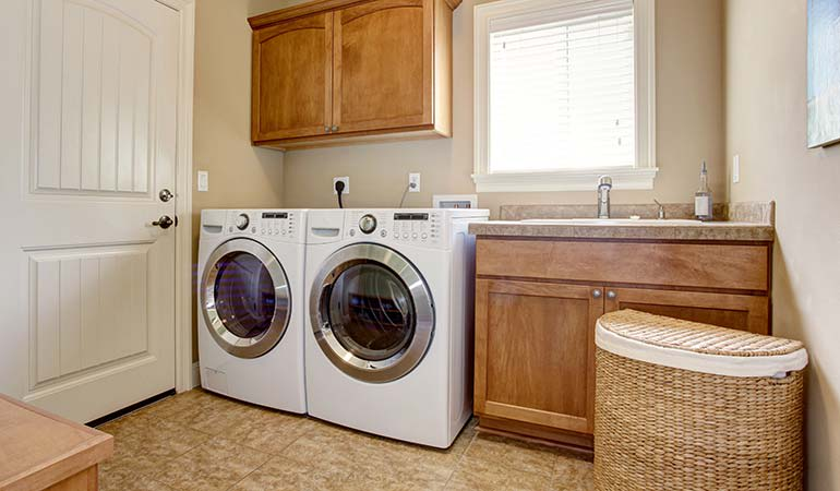 A laundry room