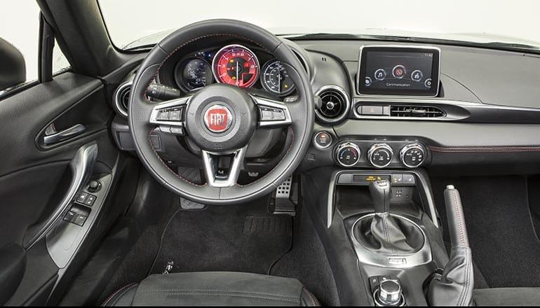 2017 Fiat 124 Spider Review Interior Shot