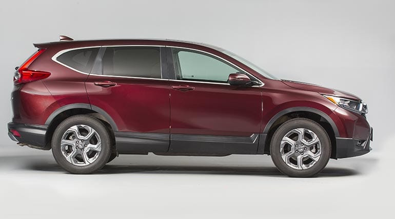 2017 Honda CR-V review: side shot of the new CR-V