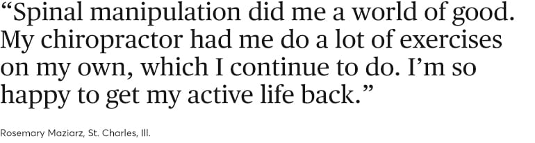 A quote about back pain relief