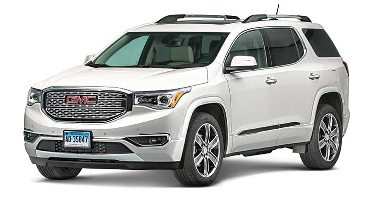 2017 gmc acadia review light on its feet consumer reports. Black Bedroom Furniture Sets. Home Design Ideas