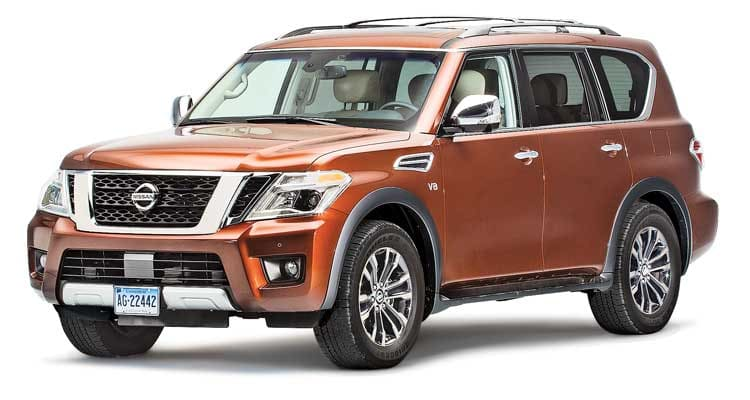 2017 nissan armada review voyage back in time consumer reports. Black Bedroom Furniture Sets. Home Design Ideas