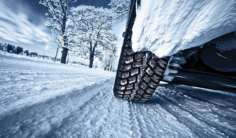 Snow tires for winter driving