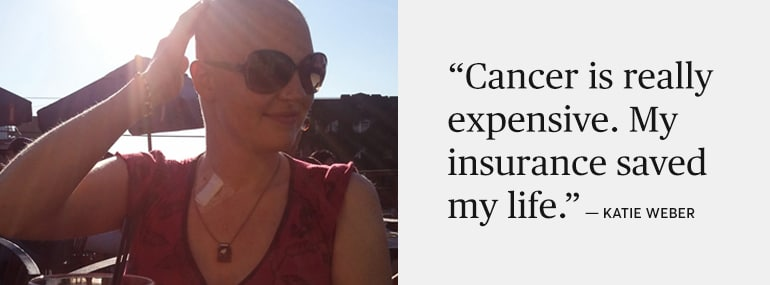 Katie Weber, who avoided bankruptcy thanks to the Affordable Care Act.