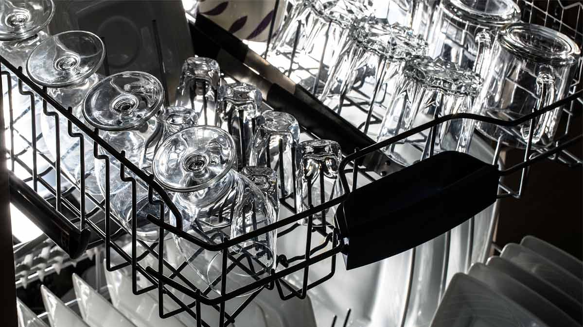 Top Rack Of A Dishwasher