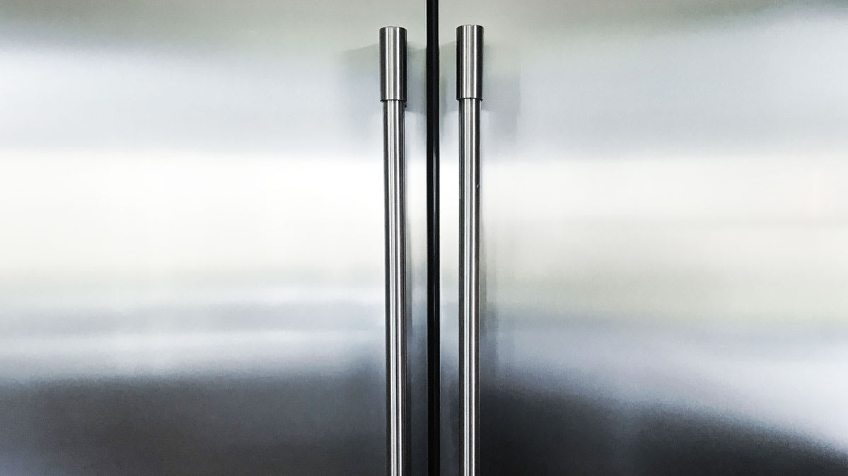 You might not think stainless steel finishes on appliances like this refrigerator can rust, but they can.