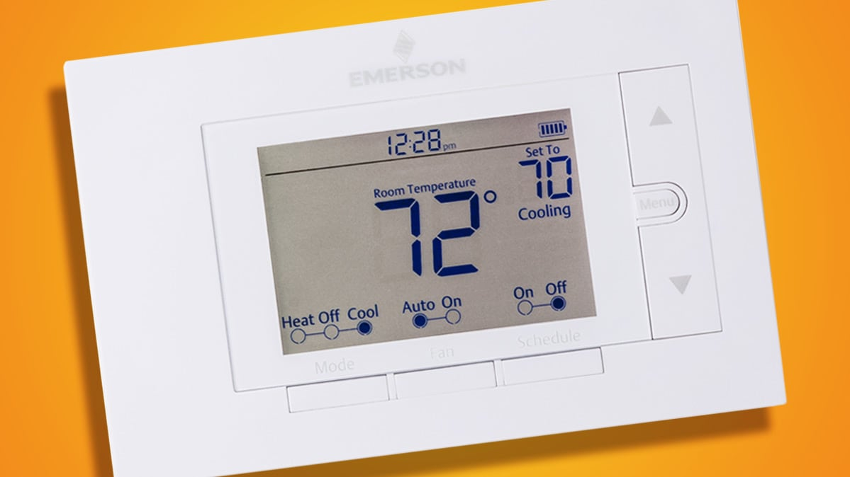 A recalled Emerson Sensi WiFi UP500W smart thermostat