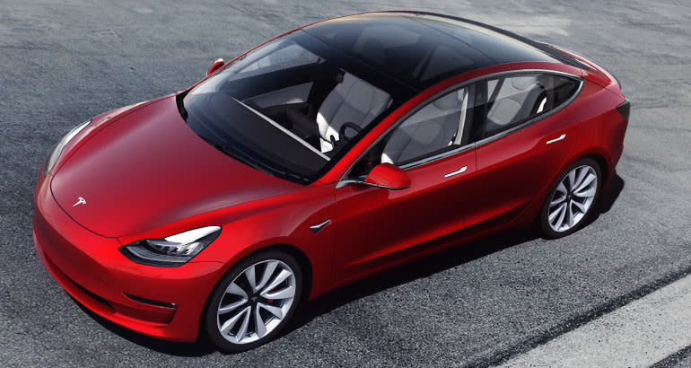 Tesla Model 3 sunroof