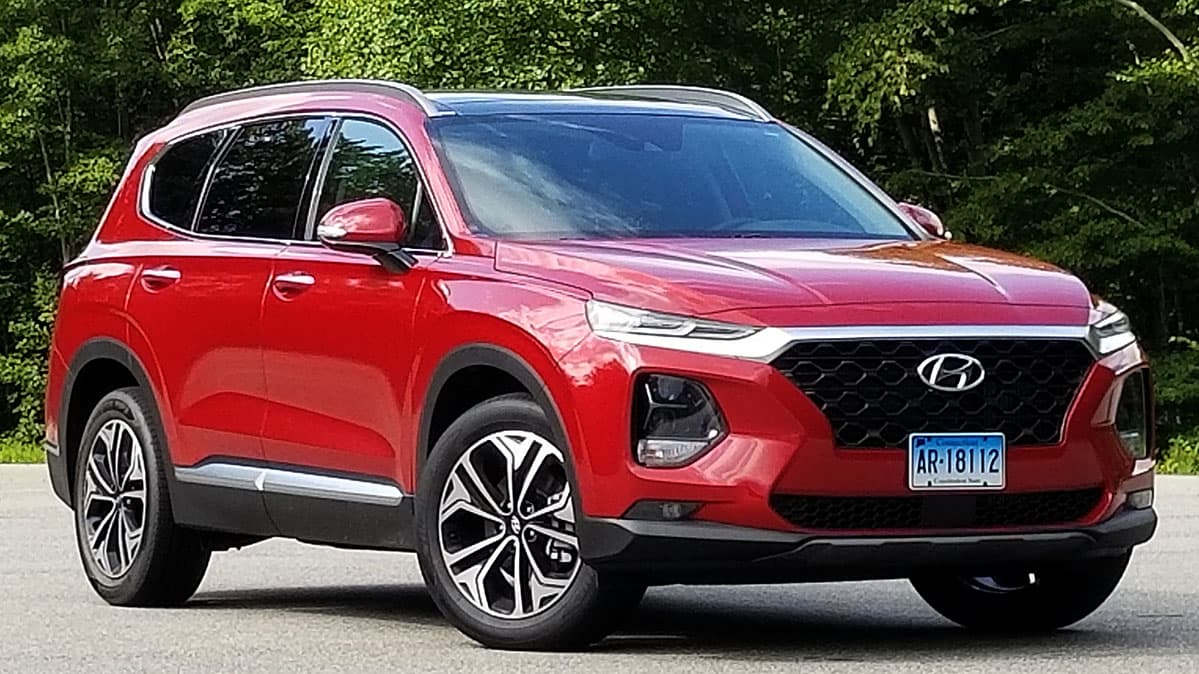 2019 Hyundai Santa Fe Review Shown Driving