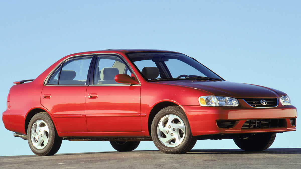 Airbag recall work involves the 2003 Toyota Corolla, shown here