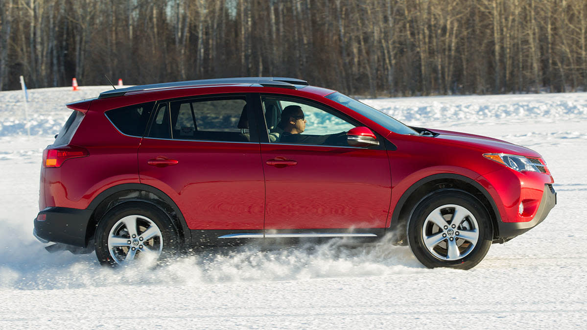 Winter driving in a 2015 Toyota RAV4.