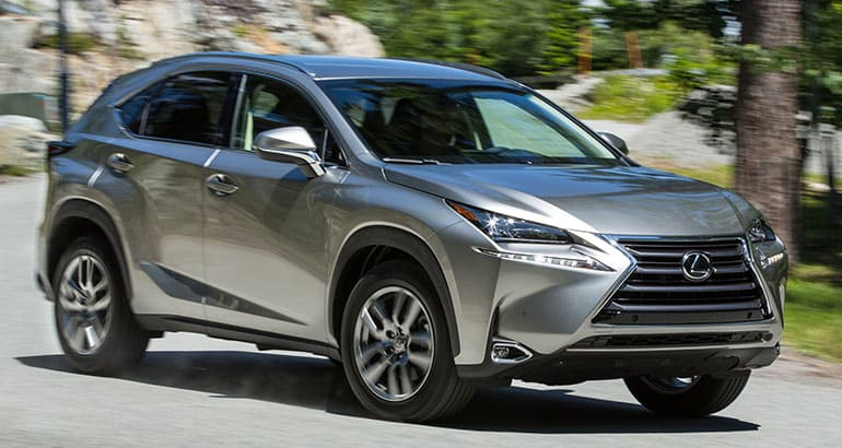 A 2015 Lexus NX 200t that's part of the Toyota and Lexus recall.
