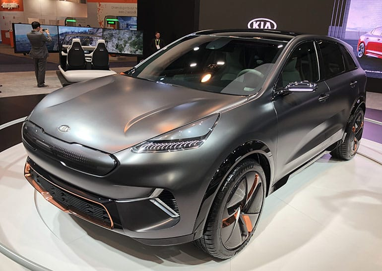 The Kia Niro EV concept at CES.