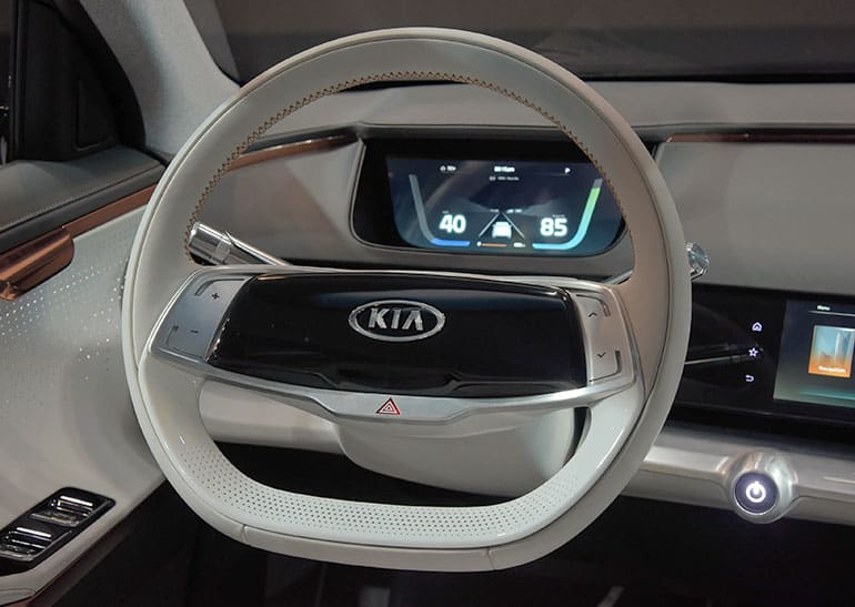 Interior of the Kia Niro EV concept at CES.
