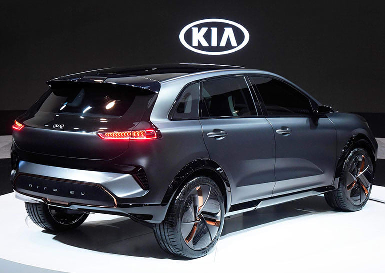 Rear of the Kia Niro EV concept at CES.