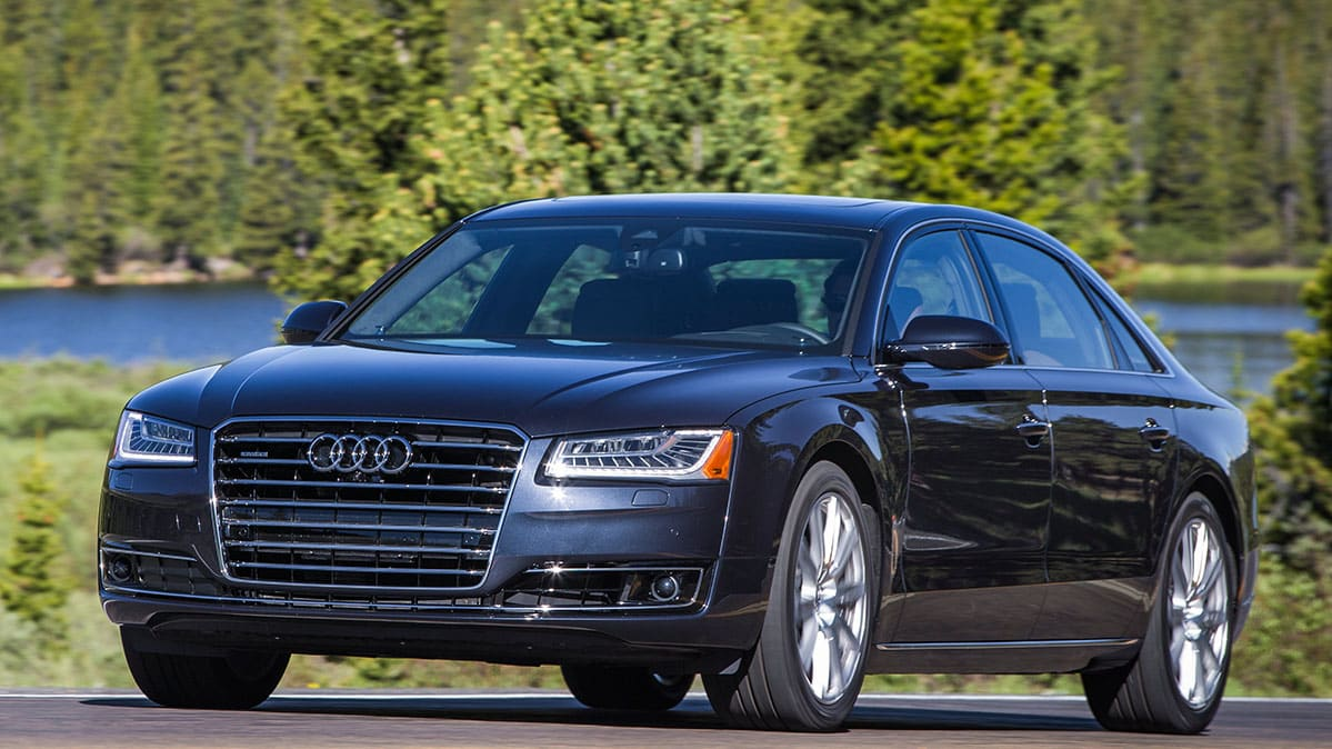 Audi A8 recalled, including the 2015 Audi A8 shown here driving.