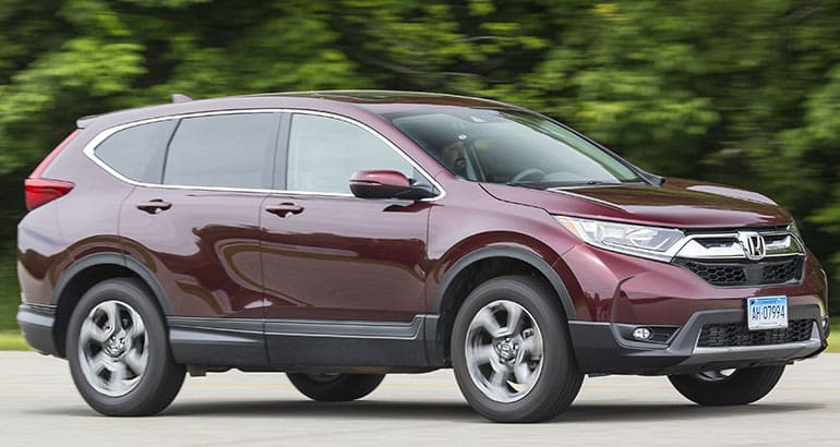 2018 Honda CR-V front three-quarter view.