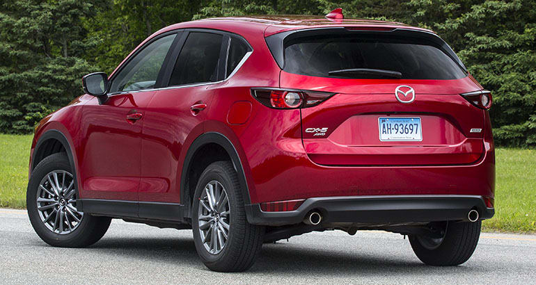 2018 Mazda CX-5 rear three-quarters view.