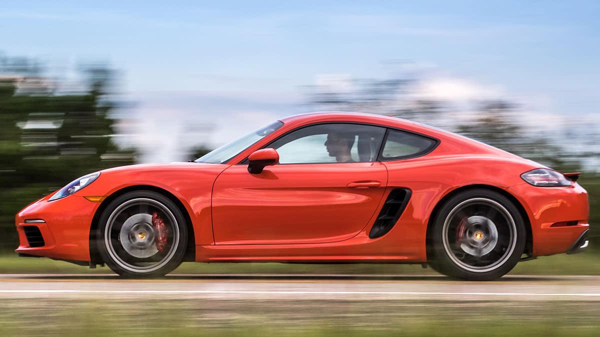 2018 Porsche Cayman S driving