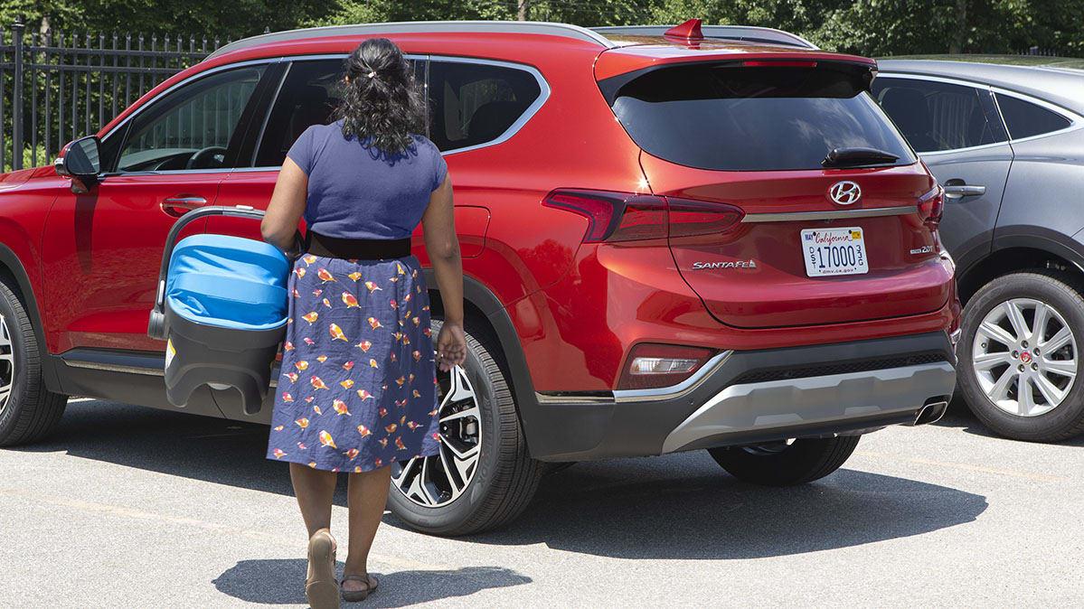 2019 Hyundai Santa Fe Rear Occupant Alert.