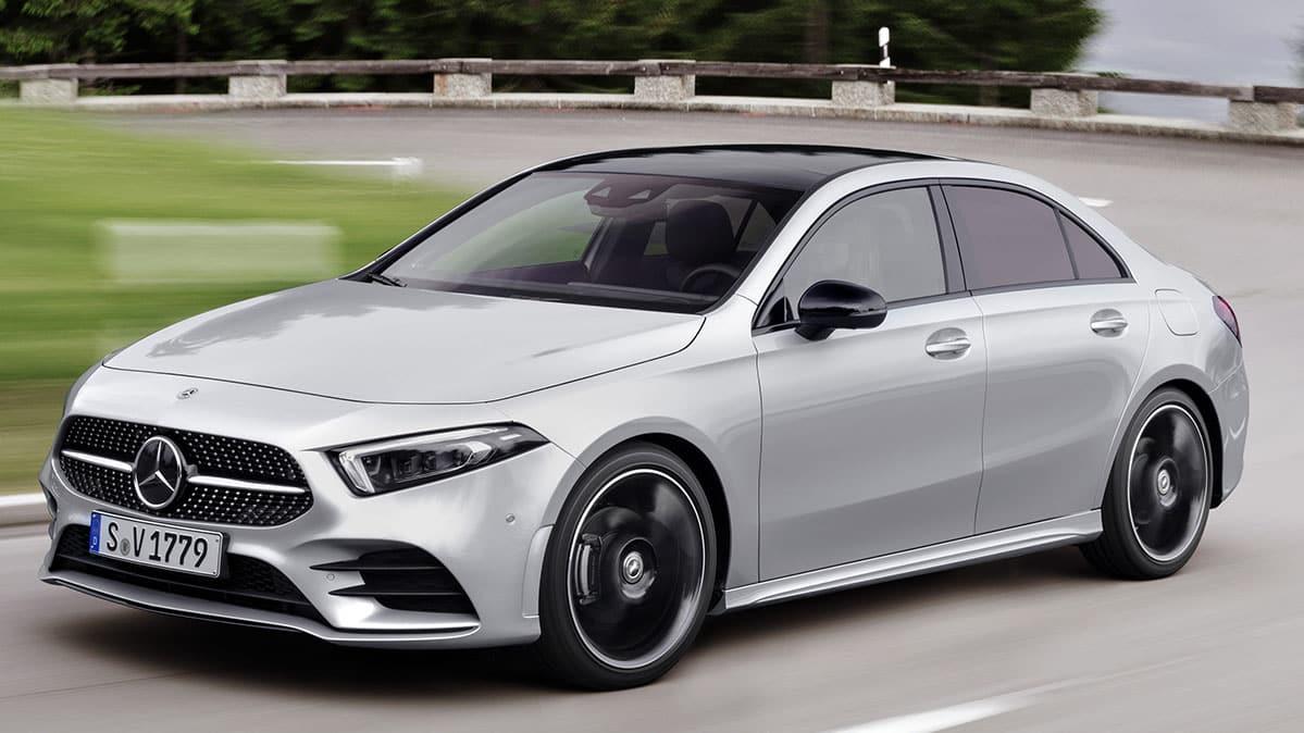 2019 Mercedes-Benz A-Class sedan driving
