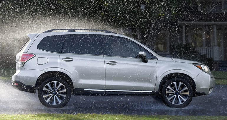 2018 Subaru Forester profile view.