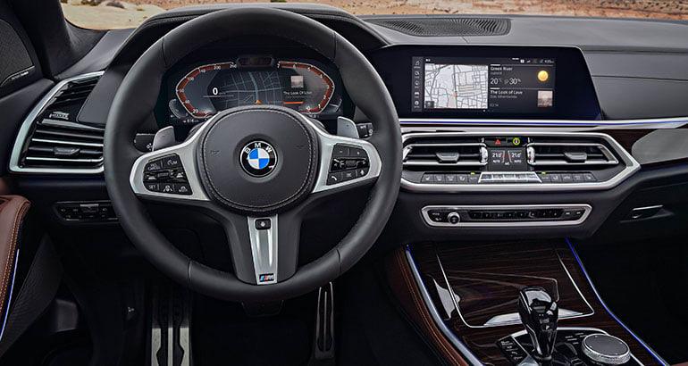 2019 BMW X5 interior.