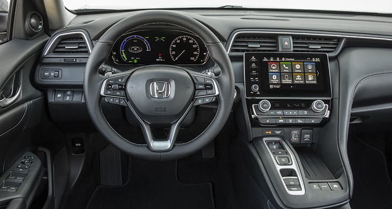 Interior of 2019 Honda Insight.