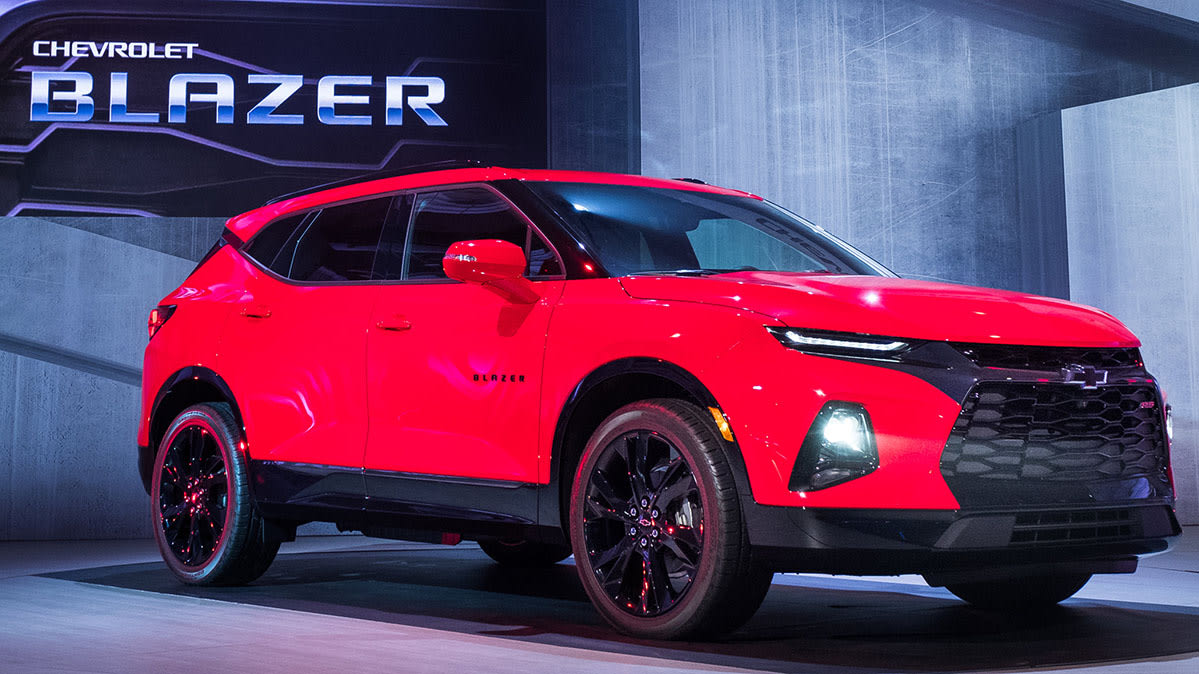 2019 Chevrolet Blazer front on stage