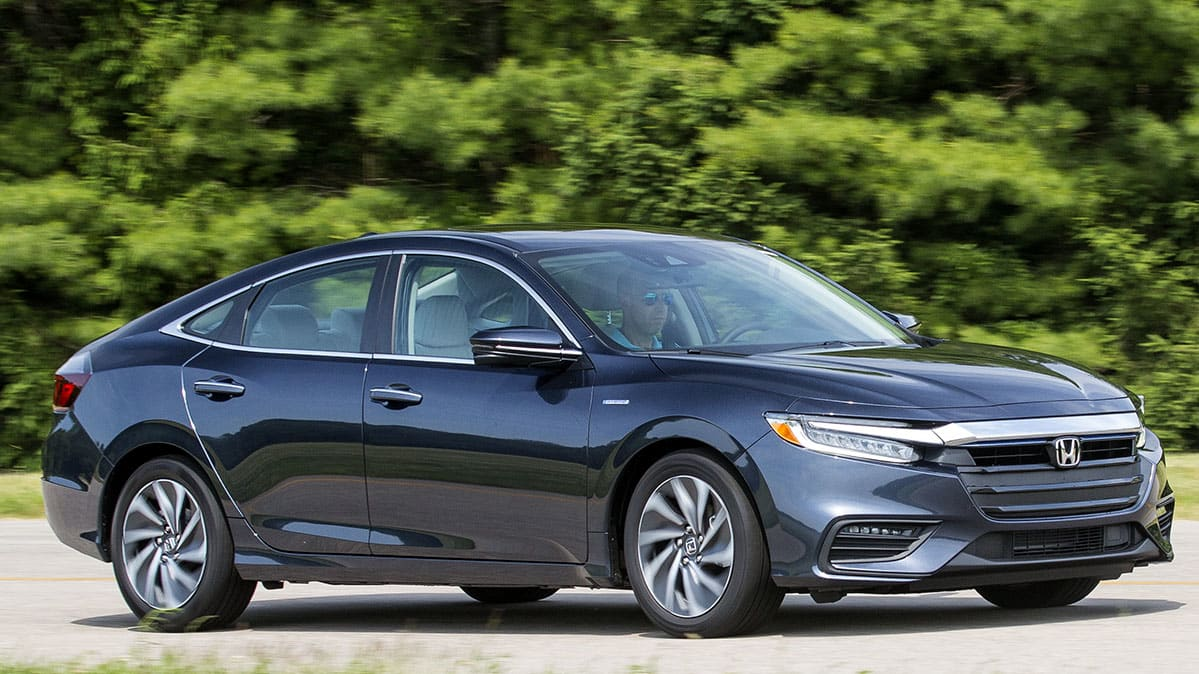 2019 Honda Insight front three-quarter view.