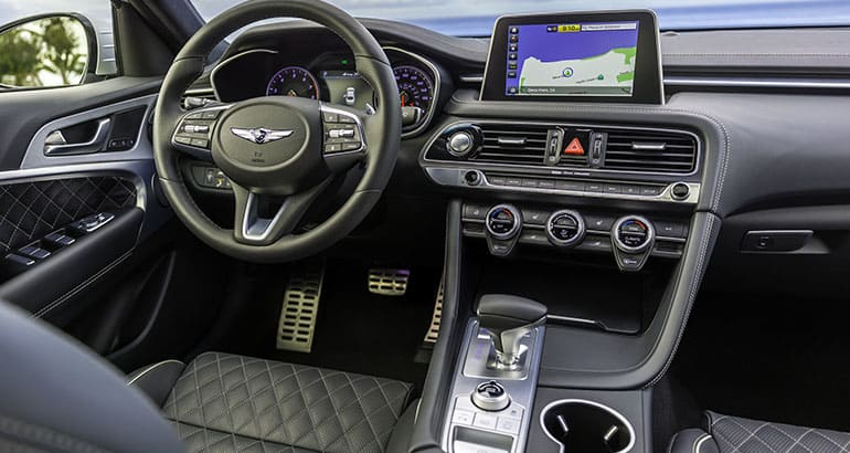 2019 genesis g70 sedan interior