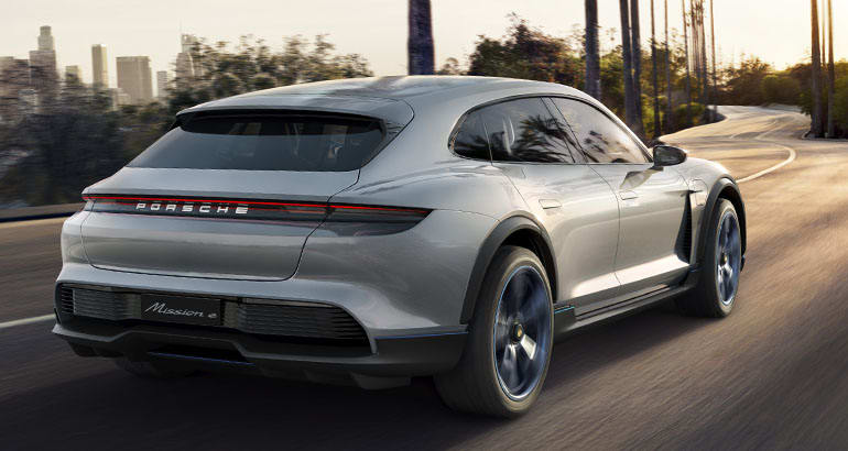 Porsche Mission E Cross Turismo rear
