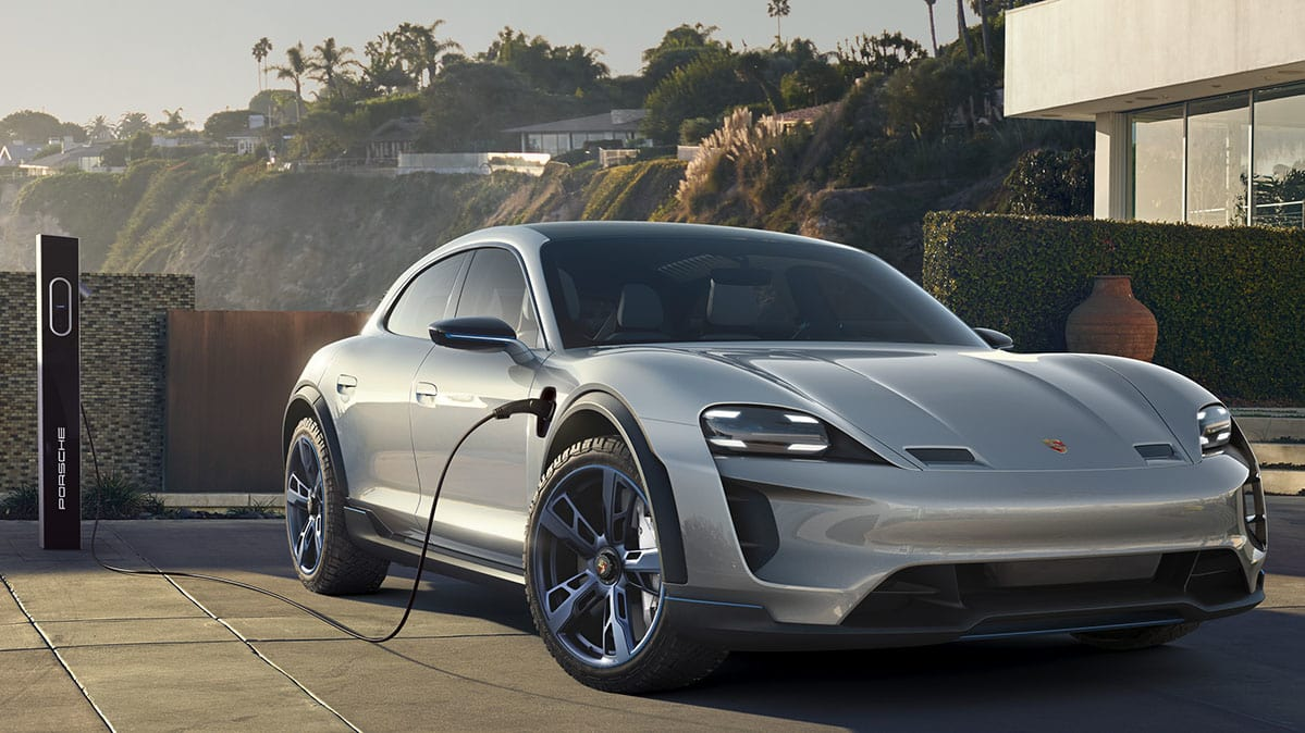 porsche electric. Porsche Mission E Cross Turismo Electric Car Charging O