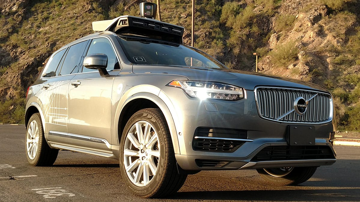 Self-driving Uber Volvo XC90 front