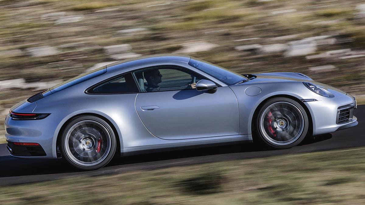 2020 Porsche 911 driving