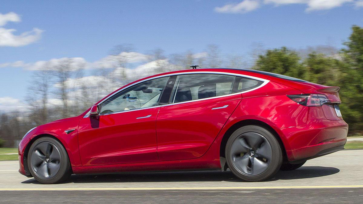 Tesla Model 3 Braking