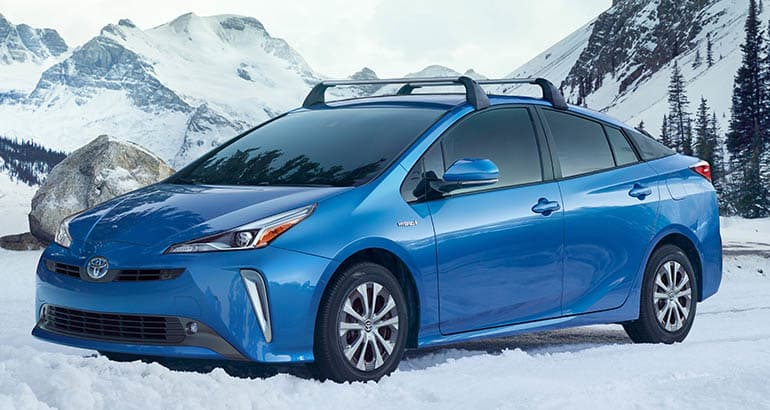 2019 Toyota Prius Awd In Snow