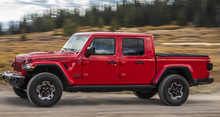 2020 Jeep Gladiator Pickup Truck Front