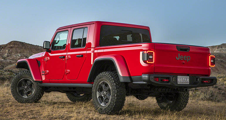 2020 Jeep Gladiator Pickup Truck Rear