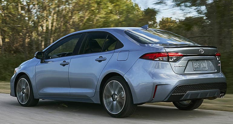 2020 Toyota Corolla Rear Driving