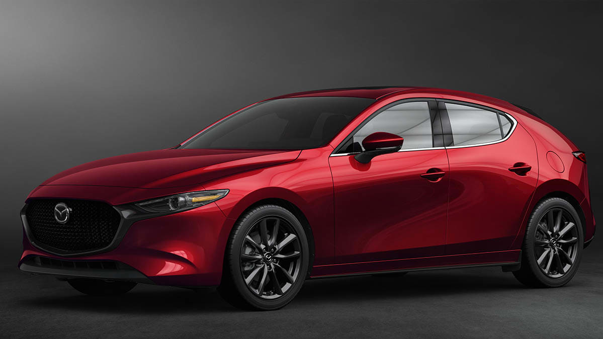 Redesigned 2019 Mazda3 Front Three Quarter