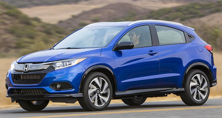 Most Fuel-Efficient SUVs include Honda HR-V