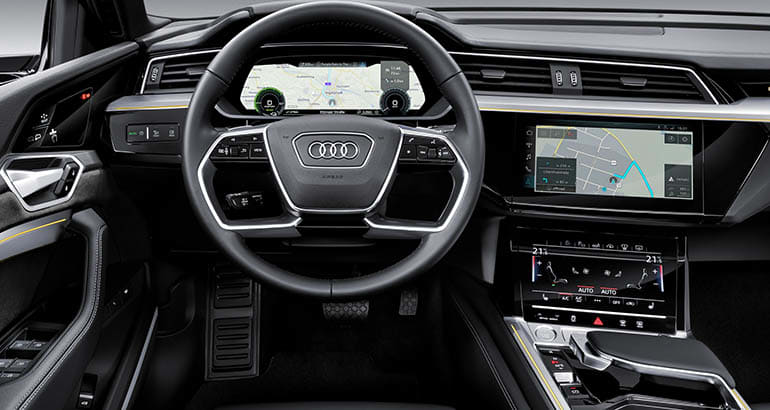 2019 Audi e-tron electric SUV interior