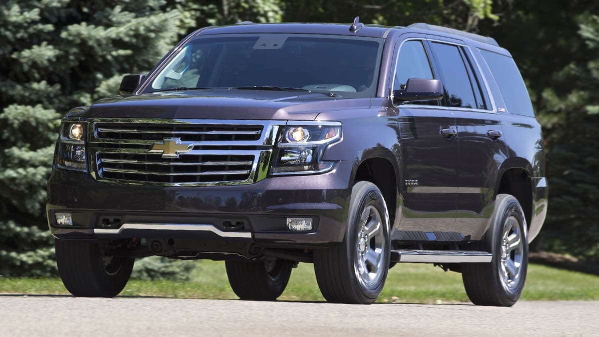 GM Recall: A Chevrolet Suburban, one of the vehicles recalled for a power steering problem. Other vehicles include the Chevrolet Silverado, Cadillac Escalade, and GMC Sierra and Tahoe.