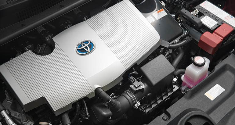 Toyota Prius engine. This recall is for a wire harness located in the engine compartment.