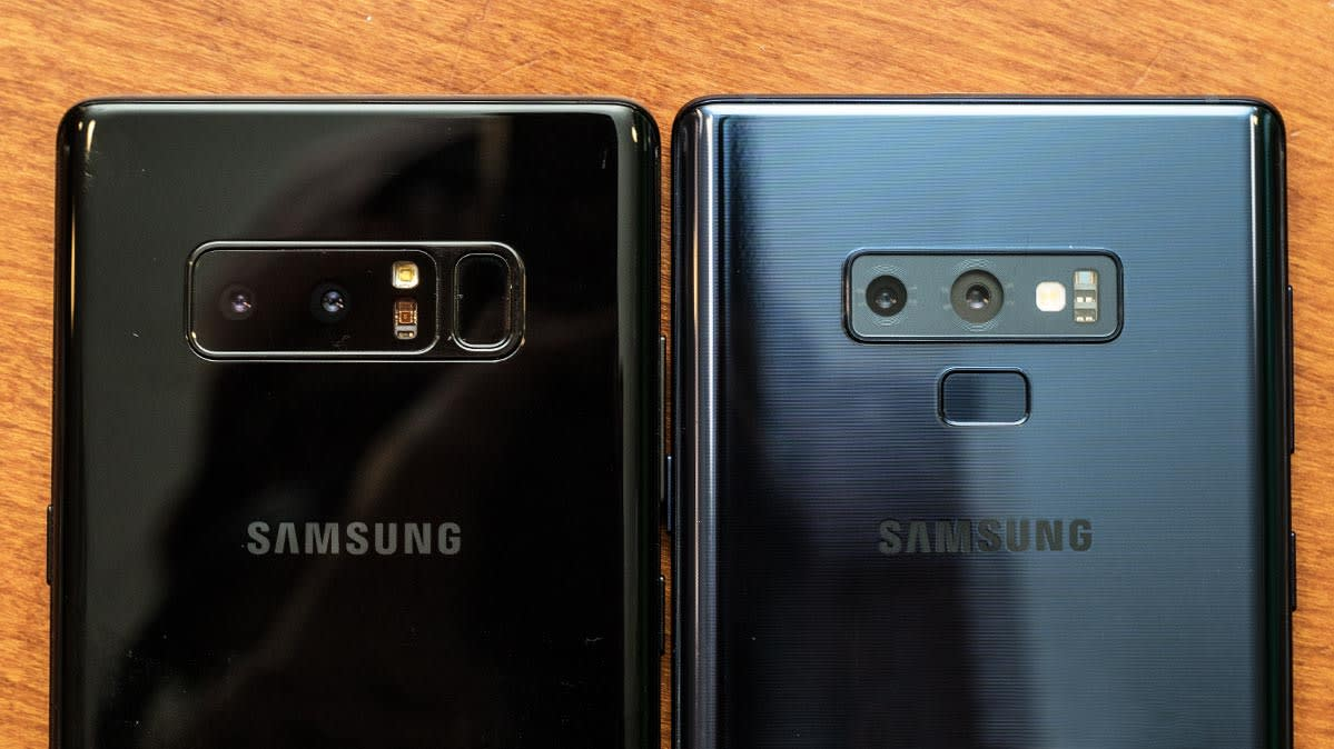 Samsung Galaxy Note9 Preview Consumer Reports Led Cover For Brown The Rear Cameras On A Note8 Left And Right Phone