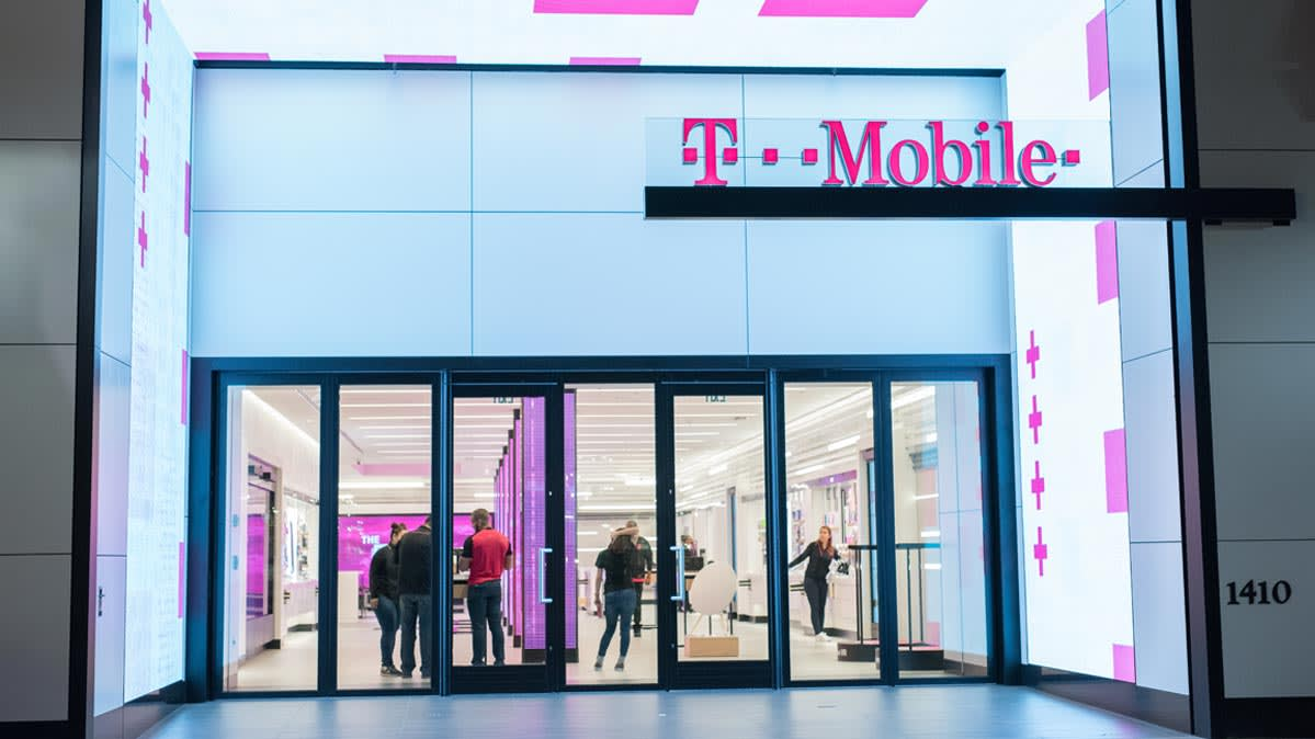 T-Mobile store. A new data breach affects 2 million T-Mobile customers.