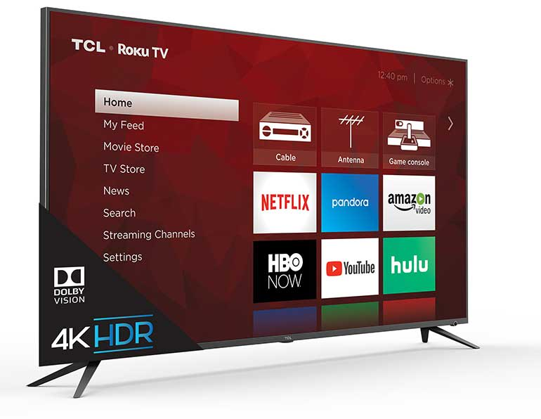 The TCL 6-series 4K Roku TV.
