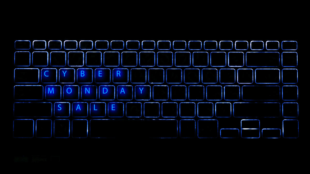 Laptop keyboard with letters reading