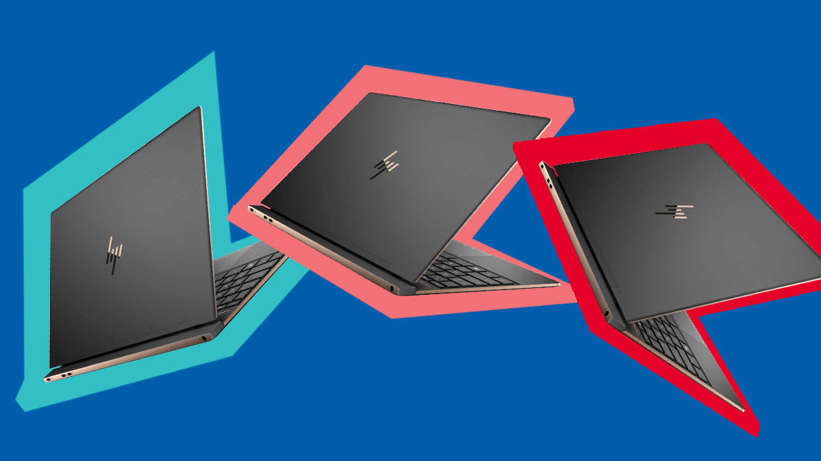 HP Black Friday laptop deals represented by an illustration of three laptops.